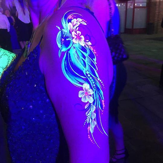 UV body art for festival weddings