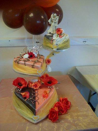 Chocolate orange wedding cake