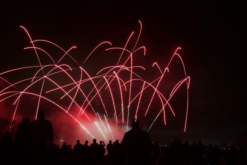 Red laser-like fireworks