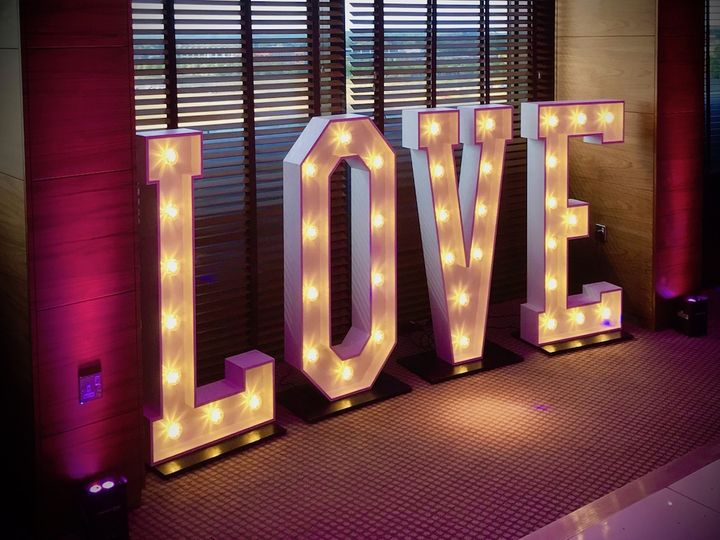 Large LED love letters