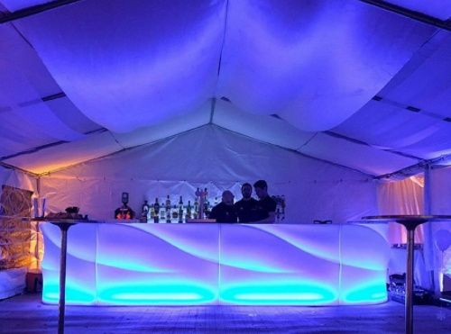 The Milano Bar in Blue