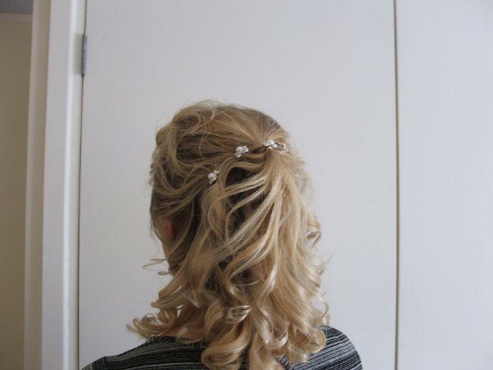 Half-up / half down hairstyle