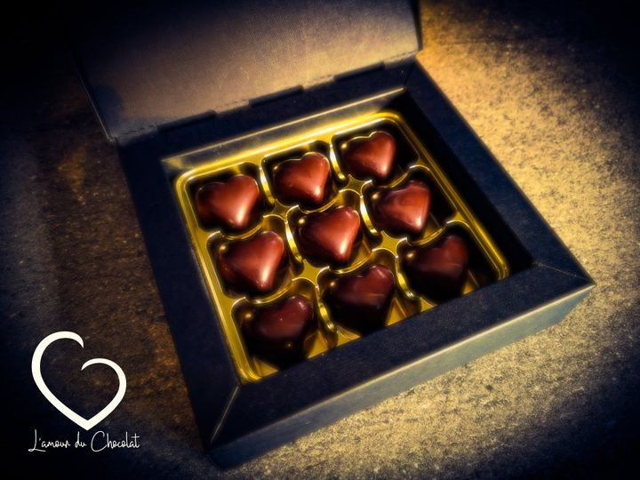 Dark chocolate bonbons