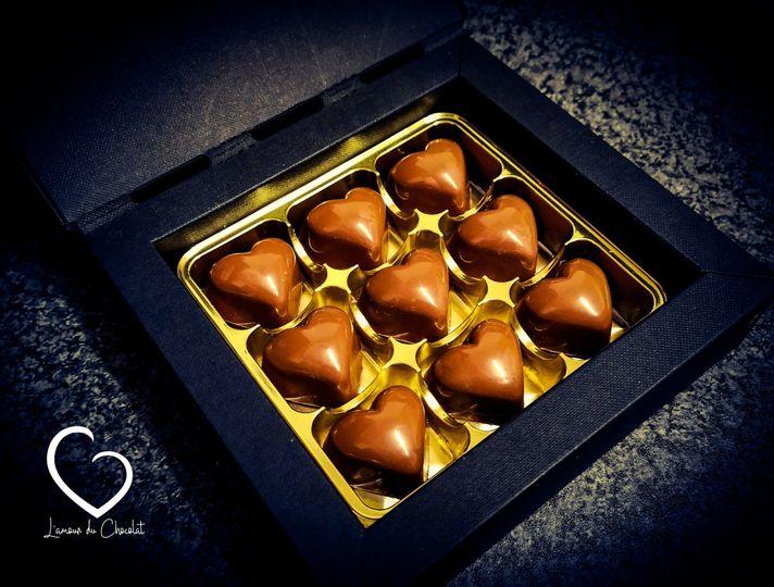 Milk chocolate bonbons