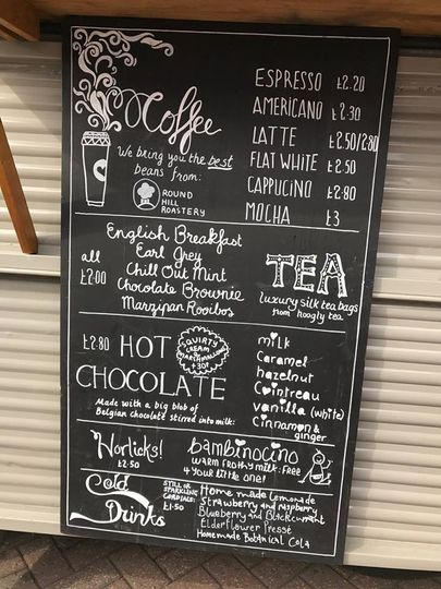 Our coffee menu