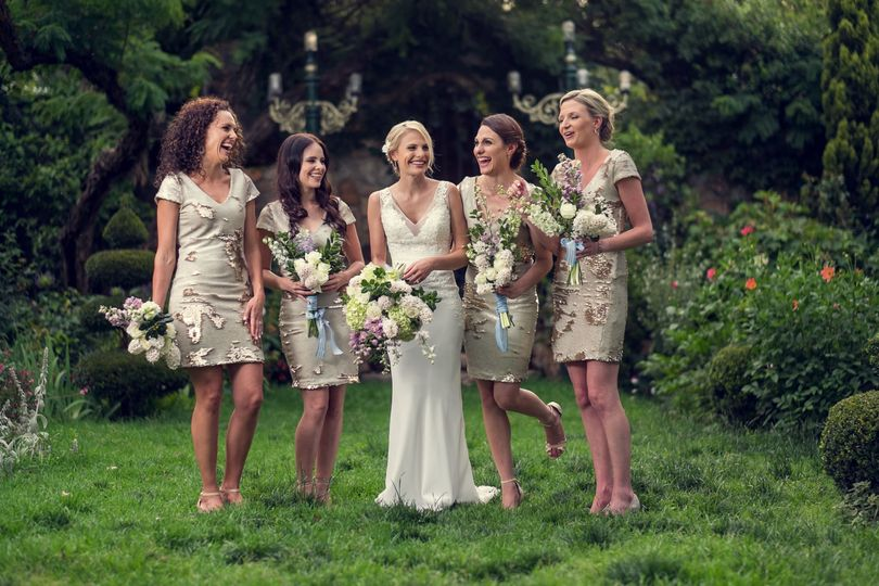 Suzelle and her bridesmaids