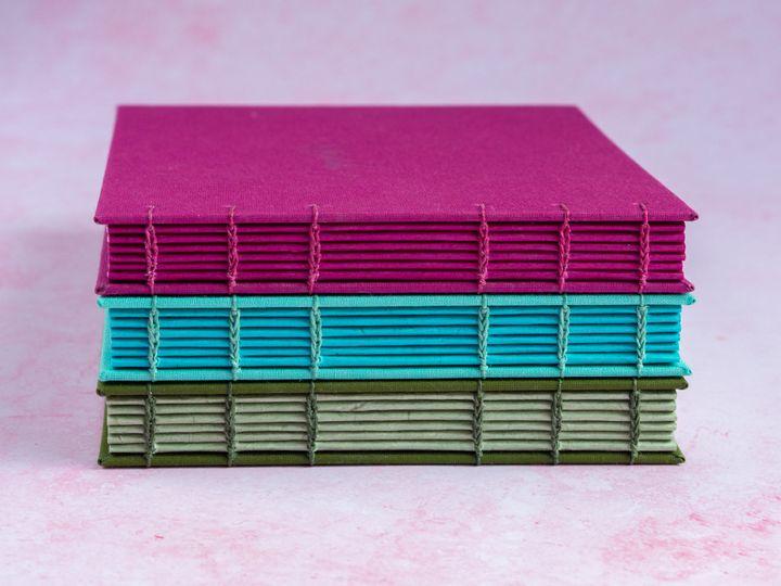 Coptic stitch book spines