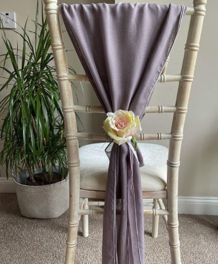 Chair sash with floral detail