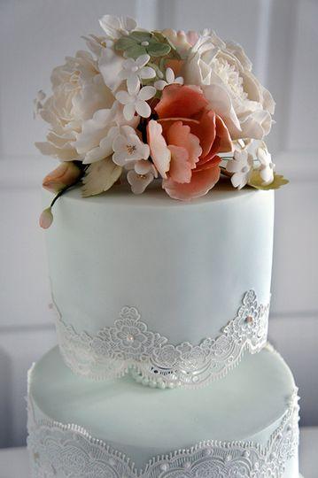 Sugar flower bouquet topper