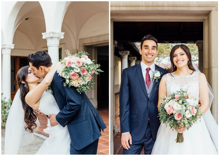 Bride & Groom portraits at Scripps College