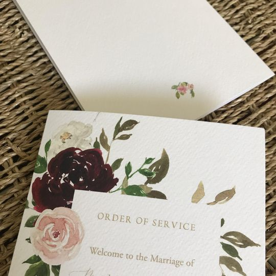 Order Of Service: A5