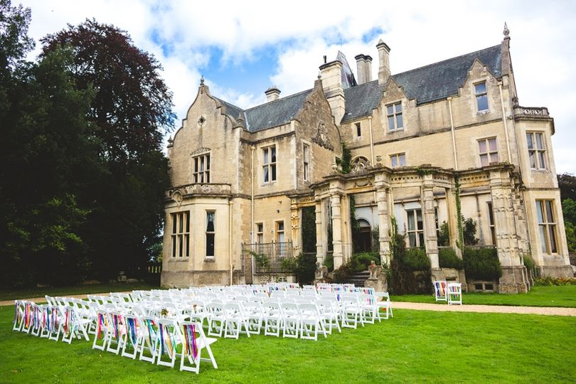 Civil Ceremony in the Formal Garden at Orchardleigh House