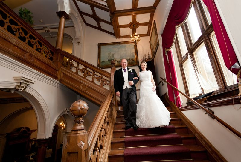 Making an entrance down Orchardleigh's grand staircase