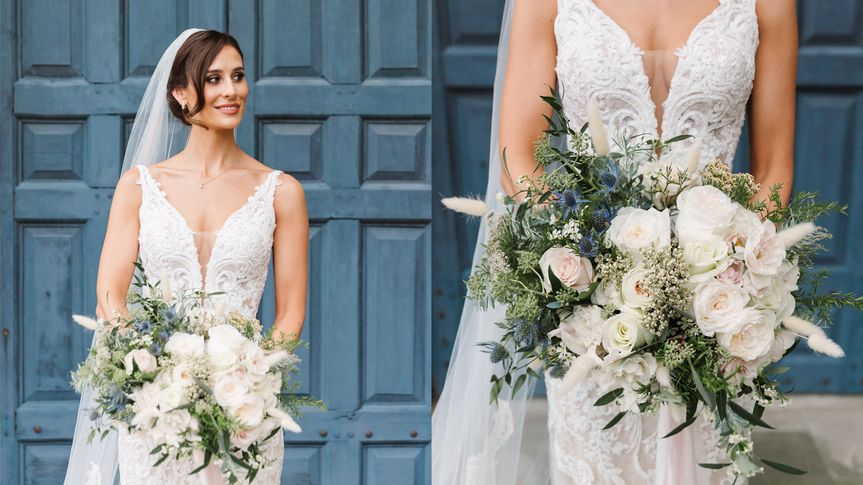 Stunning bride and her bouquet