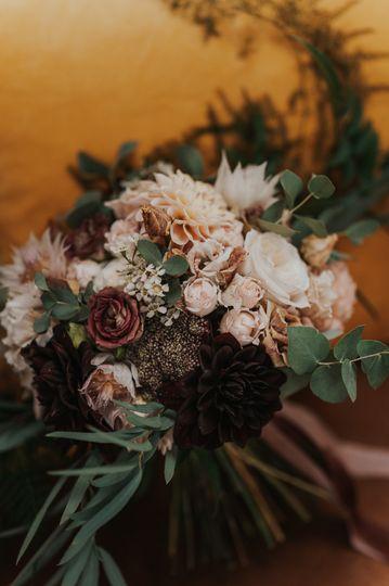Fleur de T. bridal bouquet
