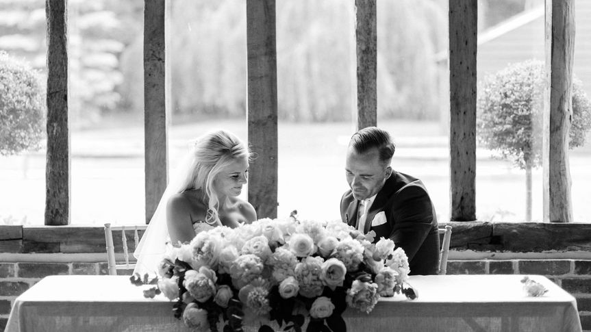 Couple seated together - Danielle Smith Photography