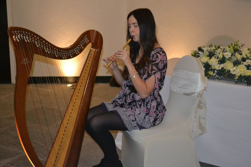 Debbie harp and tin whistle