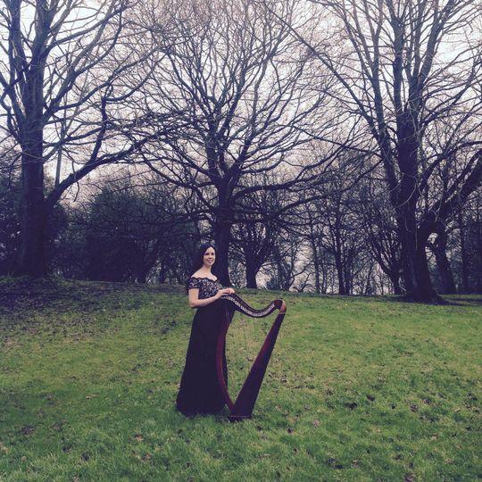 Debbie and harp