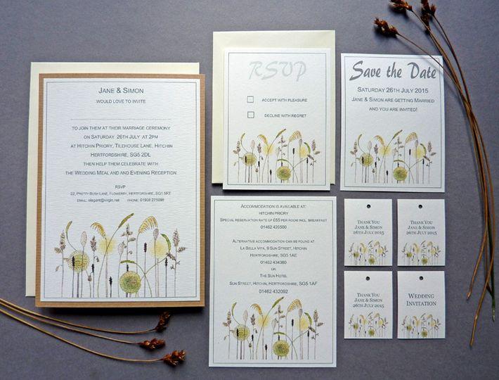 Meadow grass rustic wedding