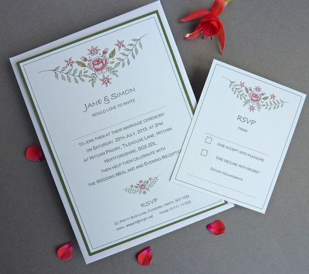 Botanical Rose Invite