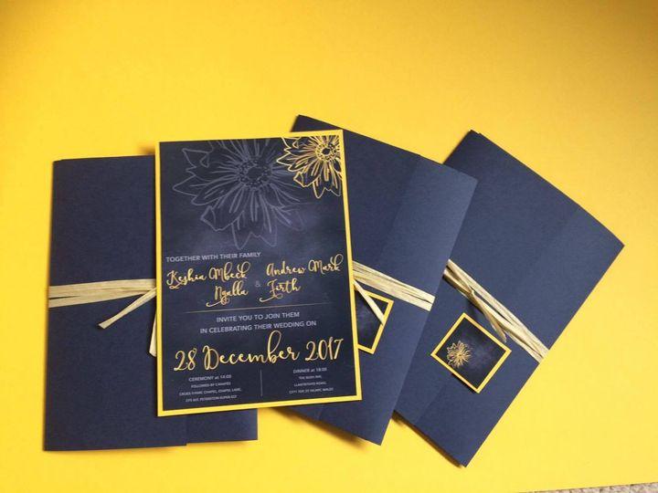 Wedding invitation - Sunflower
