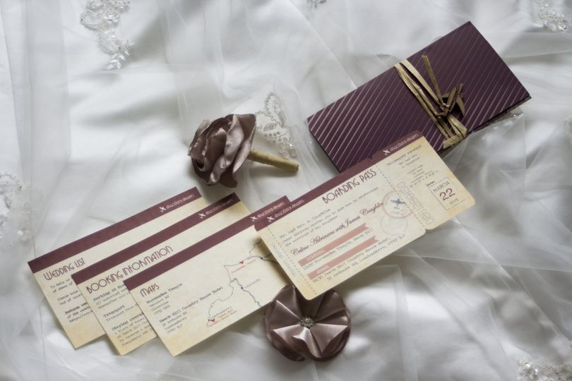 Wedding invitation - Travel