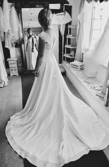 A view of the dress - Joanne Redington Photography