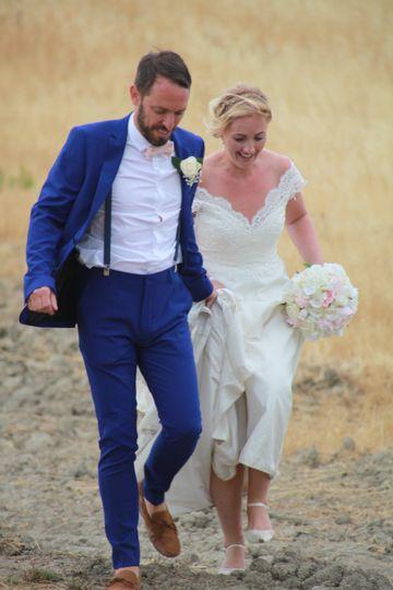 The happy couple - Joanne Redington Photography