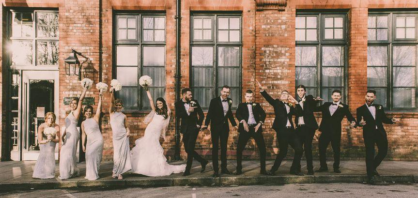 Fun group photo - Jon Thorne Weddings