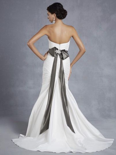 Modern gown with a statement bow