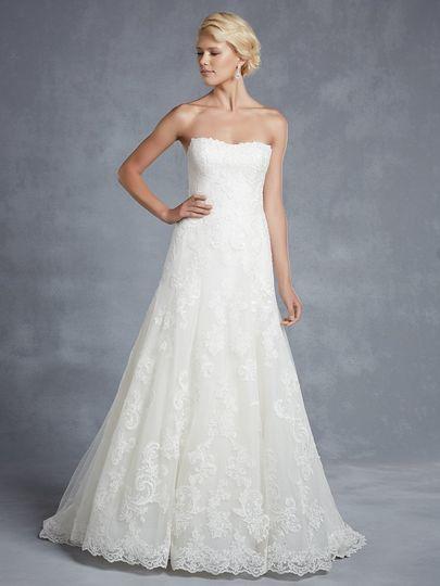 A-line dress with lace details