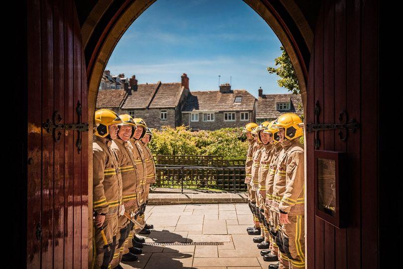 Firemen guard of honour