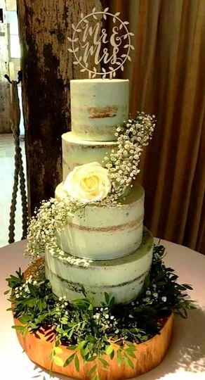 4 tier rustic cake