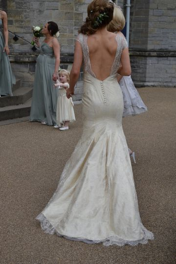 A beautiful silk lace gown