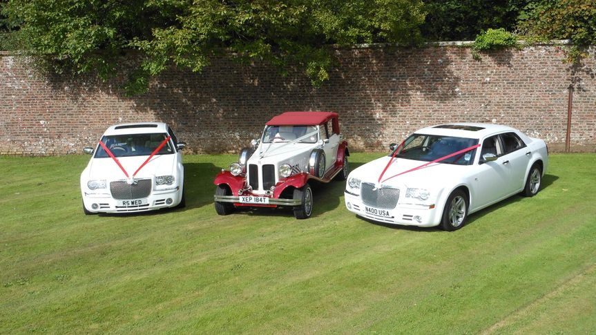 3 wedding cars