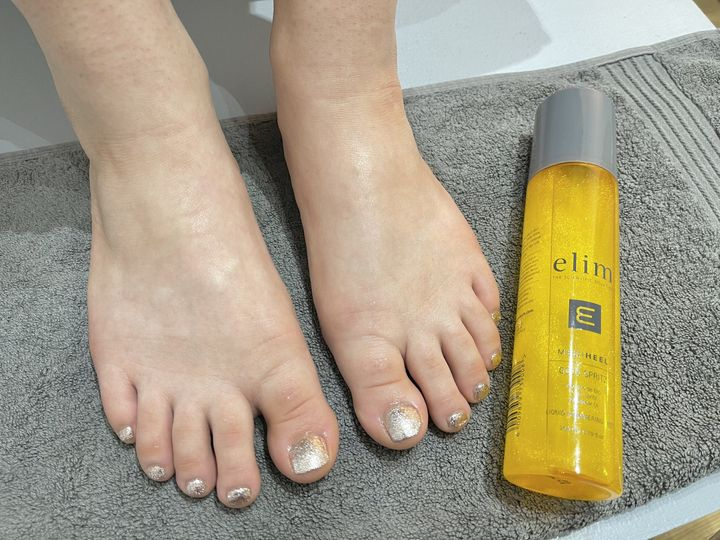 Elim pedicure with gel polish