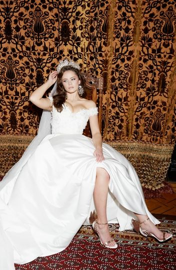 Princess gown with an edge