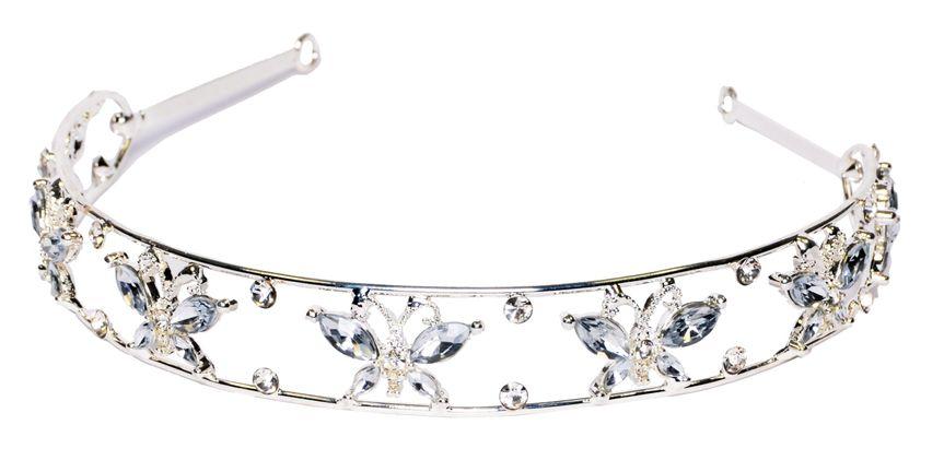 Pretty Crystal Butterfly Aliceband
