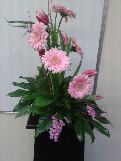 Pink Gerbera table display