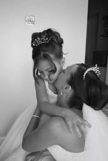 A kiss from her mum