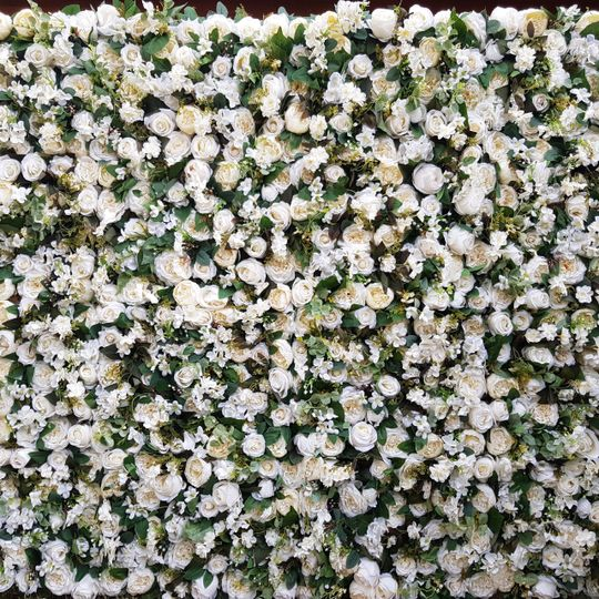 Decorative hire floral wall