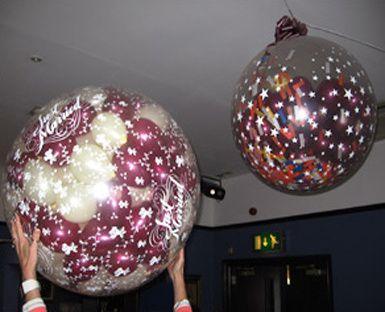 Balloons away balloons exploding