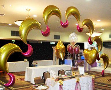 indian asian wedding celebration balloon arch