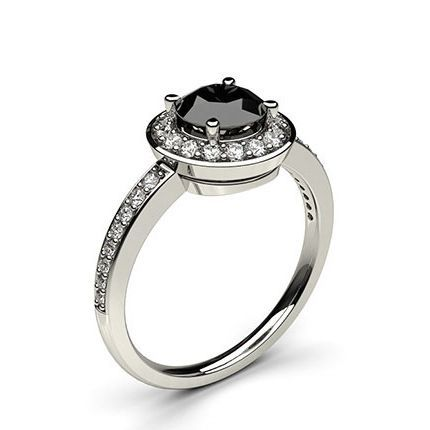 Black Halo Diamond Ring