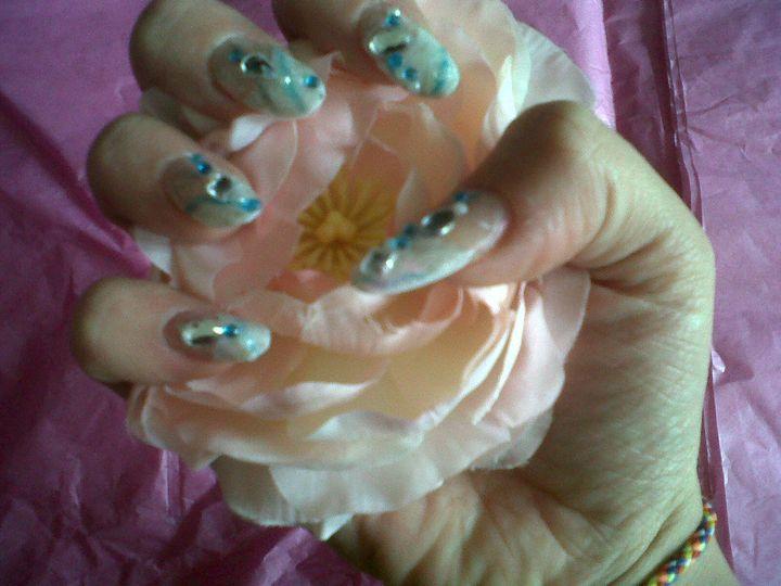Acrylics with nail art