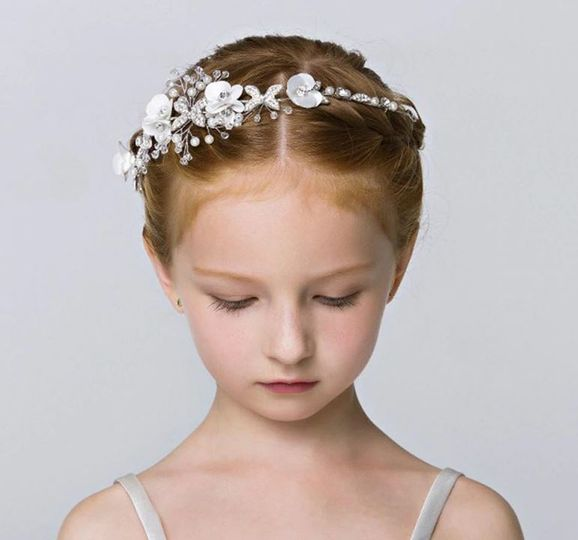 White and Silver Headband