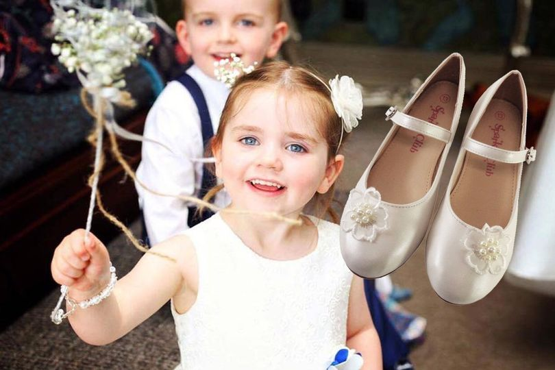 Junior bridesmaid ivory shoes