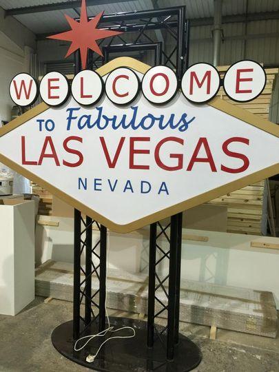 8ft high light up Vegas Sign