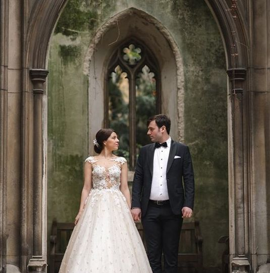 Sophisticated newlyweds