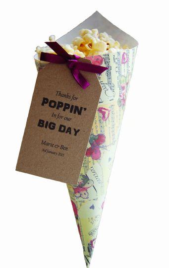 Personalised popcorn cones